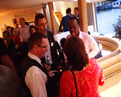Corporate Entertainment Ideas: Undercover Waiters - reception drinks aboard the Silver Sturgeon, London