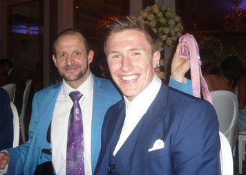 Pickpocket Entertainer Matt Windsor - stealing a tie at a wedding at Claridges Hotel, London